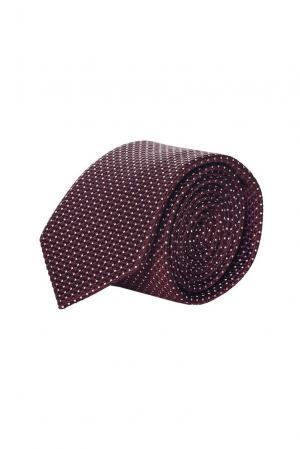 Галстук из шелка и хлопка FT-184442 Emporio Armani. Цвет: красный