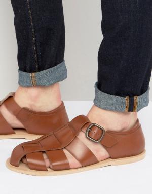 Dead Vintage Гладиаторские сандалии. Цвет: рыжий