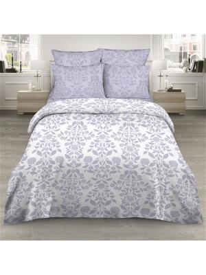 Комплект постельного белья из поплина 2 спальный Василиса. Цвет: серый