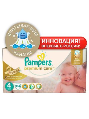 Подгузники Pampers Premium Care, 8-14 кг, 104 шт.. Цвет: белый