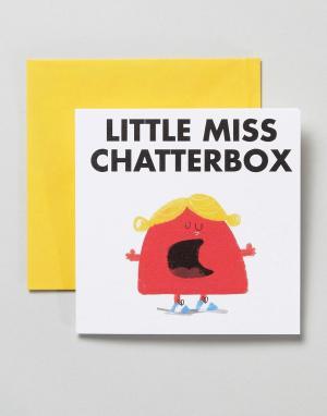 OHH DEER Открытка Little Miss Chatterbox. Цвет: мульти