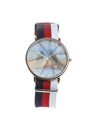 Часы Migura. Цвет: синий, красный, золотистый, белый