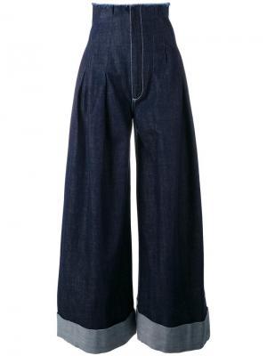 Джинсовые брюки-палаццо Jacquemus. Цвет: синий