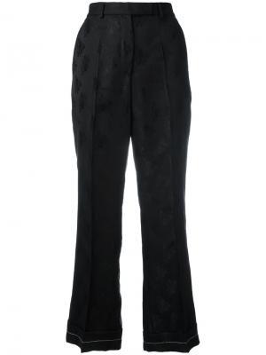 Жаккардовые брюки Ter Et Bantine. Цвет: чёрный