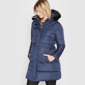 Куртка с капюшоном для периода беременности La Redoute Collections. Цвет: темно-синий,черный