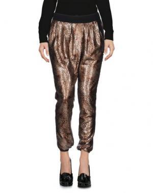 Повседневные брюки SOALLURE. Цвет: бронзовый