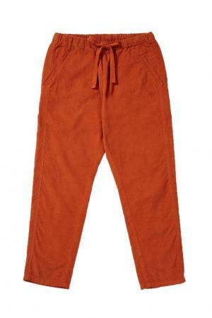Хлопковые брюки Caramel Baby&Child. Цвет: оранжевый