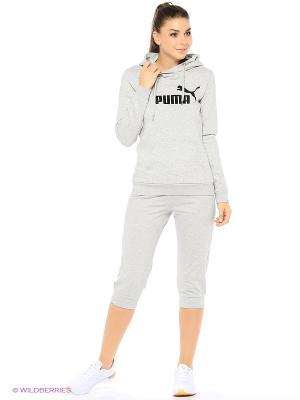 Капри ESS Capri Sweat Pants W Puma. Цвет: серый