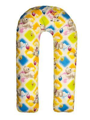 Подушка для беременных Здоровье и комфорт. Цвет: светло-коричневый, красный
