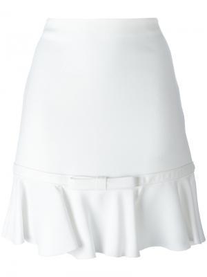 Расклешенная мини юбка Giambattista Valli. Цвет: белый