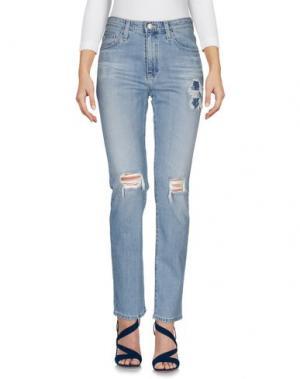 Джинсовые брюки ALEXA CHUNG for AG. Цвет: синий