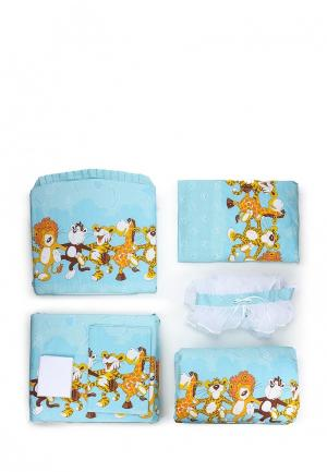 Комплект постельного белья Сонный Гномик. Цвет: голубой