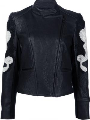 Байкерская куртка с аппликацией Yigal Azrouel. Цвет: чёрный