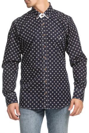 Рубашка Pontto. Цвет: navy