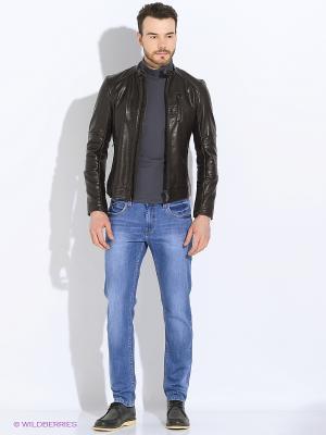 Куртка Sisley. Цвет: темно-коричневый