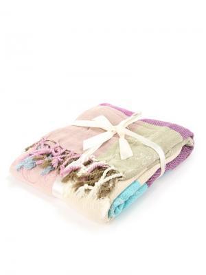 Плед 140*194 СМ India IndiaT-Lilas/1 Cite Marilou. Цвет: бежевый, серо-коричневый, голубой, лиловый