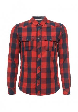 Рубашка Tom Tailor Denim. Цвет: красный