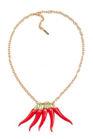 Колье 135356 Nach Jewellery. Цвет: красный