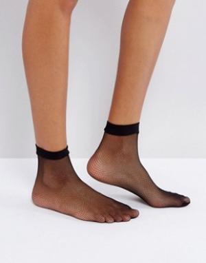 Leg Avenue Сетчатые носки. Цвет: черный