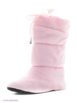 Сапожки домашние CLEO. Цвет: розовый