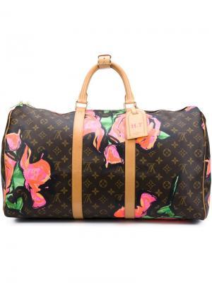 Дорожная сумка Roses Keepall 50 Stephen Sprouse x Louis Vuitton Vintage. Цвет: коричневый