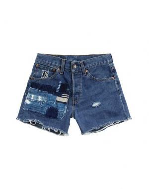 Джинсовые брюки STUDIO 189. Цвет: синий