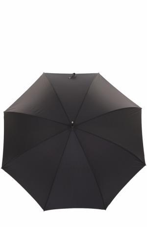 Зонт-трость с черепом на ручке Pasotti Ombrelli. Цвет: черный