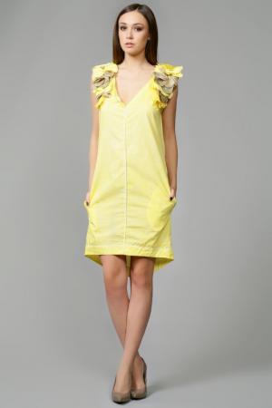 Платье Nude. Цвет: желтый