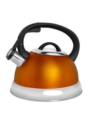 Чайник со свистком (газ/электро/индукция), 3 л BAYERHOFF. Цвет: оранжевый