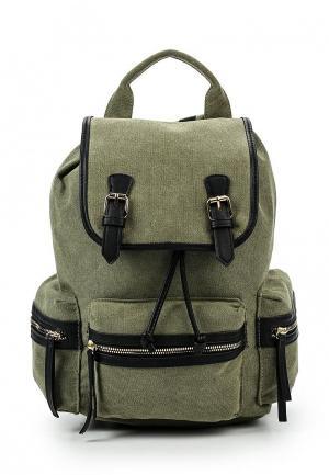 Рюкзак Pieces. Цвет: зеленый