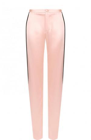 Широкие брюки с контрастными лампасами Lanvin. Цвет: розовый