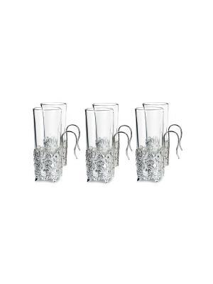 Набор стаканов 200 мл, 6 шт. Elff Ceramics. Цвет: серебристый