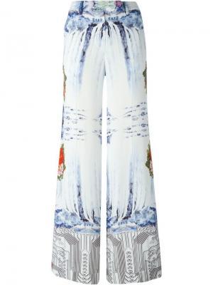 Широкие брюки с принтом Piccione.Piccione. Цвет: белый