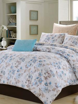 Комплект постельного белья, Аделина, 1.5 спальный KAZANOV.A.. Цвет: голубой