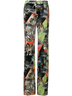 Расклешенные брюки с принтом Blugirl. Цвет: многоцветный