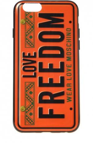 Чехол Freedom для iPhone 6/6s Moschino. Цвет: бесцветный