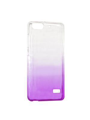 Крышка задняя для Huawei 4C Силикон IQ Format. Цвет: фиолетовый