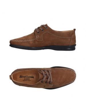 Обувь на шнурках WEST COAST. Цвет: коричневый