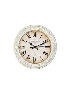 Настенные часы Михаилъ Москвинъ. Цвет: белый, золотистый