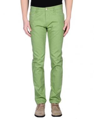 Повседневные брюки D-21. Цвет: зеленый