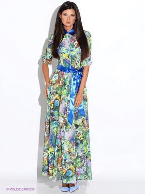 Платье Alina Assi. Цвет: серо-зеленый