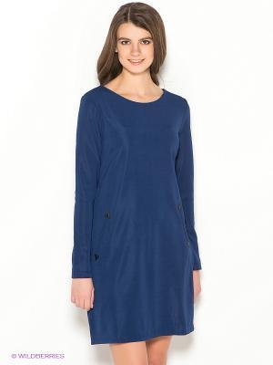 Платье Ada Gatti. Цвет: темно-синий