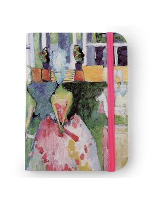Флорентийская записная книжка. Дамы в кринолинах Власта. Цвет: голубой, розовый, зеленый