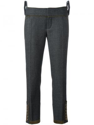 Укороченные брюки Livery Tenent Dsquared2. Цвет: серый