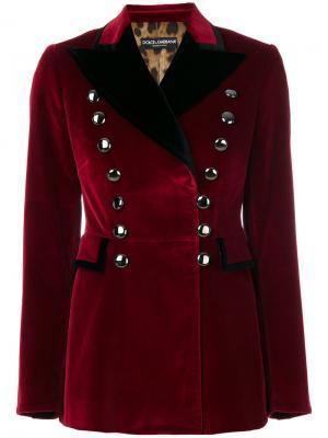 Пиджак в стиле милитари Dolce & Gabbana. Цвет: красный