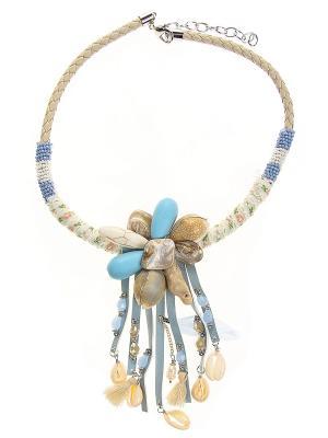 Колье Infiniti. Цвет: белый, голубой, бежевый