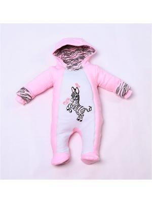 Комбинезоны нательные для малышей batik. Цвет: розовый