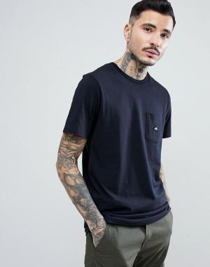 Penfield Черная футболка с карманом и логотипом Southborough. Цвет: черный