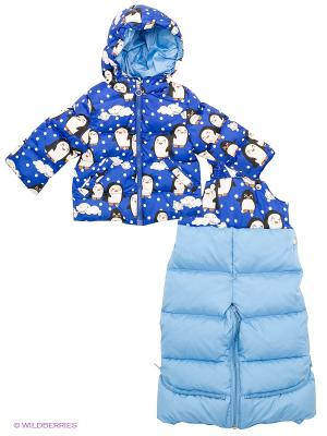 Комплект Аксарт. Цвет: синий, голубой, белый