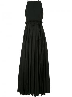 Плиссированное вечернее платье Dice Kayek. Цвет: чёрный